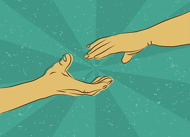Human Hand - vector illustration vector art illustration