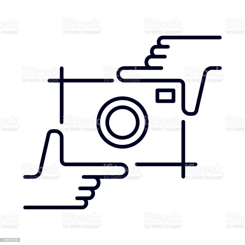 L'homme les mains faisant culturaux symbole sur fond blanc. Vecteur élément de design, enseigne, logo, identité, image de marque pour les entreprises - Illustration vectorielle