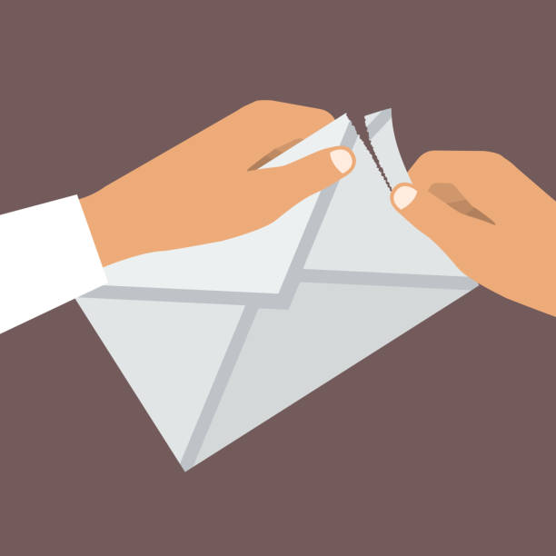 Opening Envelope Illustrations, Royalty-Free Vector