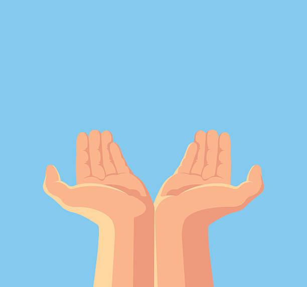 stockillustraties, clipart, cartoons en iconen met human hands. vector flat cartoon illustration - oppakken