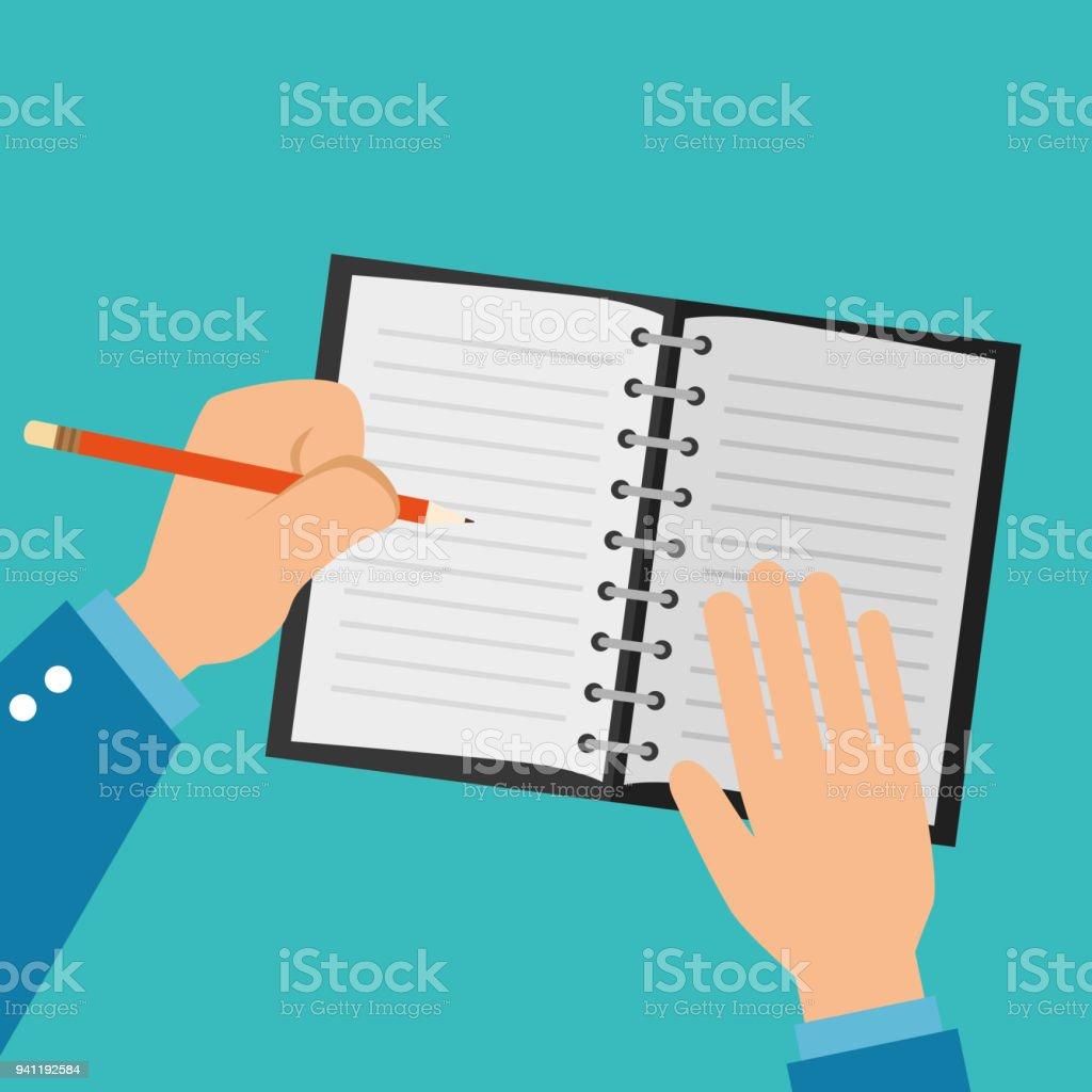 Menschliche Hände Schreiben Symbol Stock Vektor Art Und Mehr Bilder
