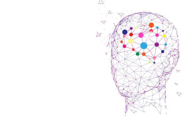 ludzka głowa i mózg. koncepcja tworzenia i idei - inteligencja stock illustrations
