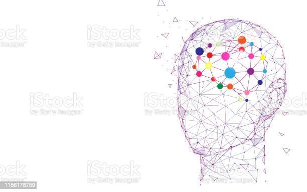 Menselijk Hoofd En Hersenen Creatie En Idee Concept Stockvectorkunst en meer beelden van Abstract