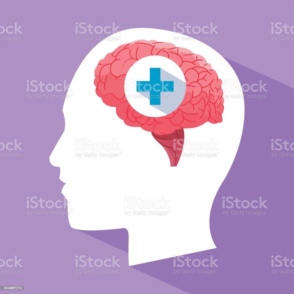 Menschliche Gehirn Kopf Medizinische Versorgung Stock Vektor Art und ...