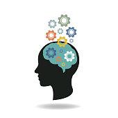 human head idea. eps 10 vector file