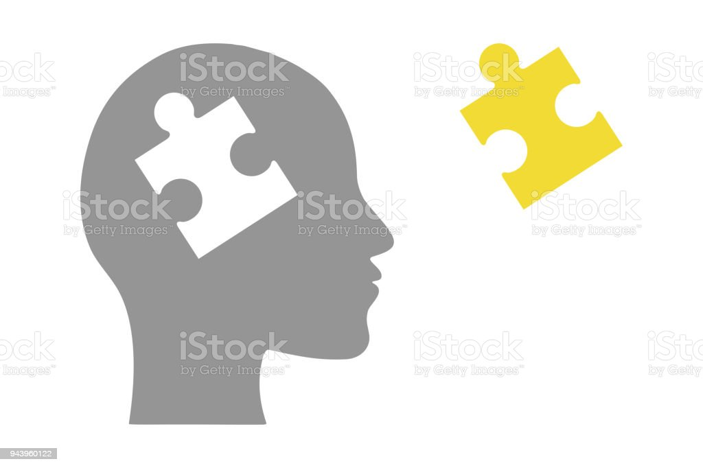 Human head of puzzle royalty-free human head of puzzle stock illustration - download image now