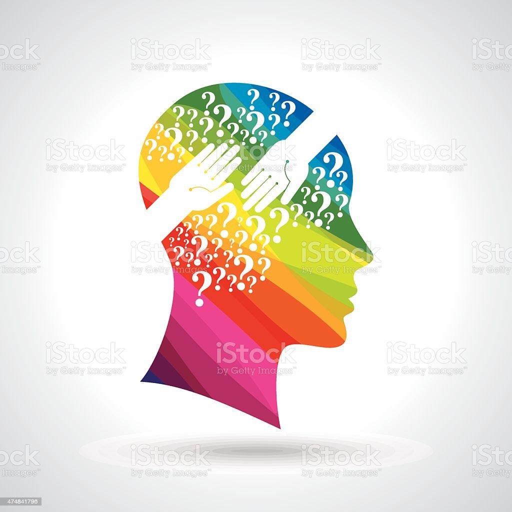 Menschlicher Kopf Denken Eine Neue Idee Vektor Illustration ...