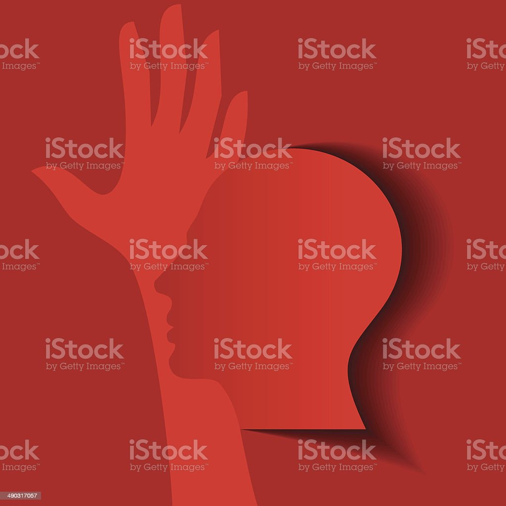 human head thinking a new idea royalty-free stock vector art