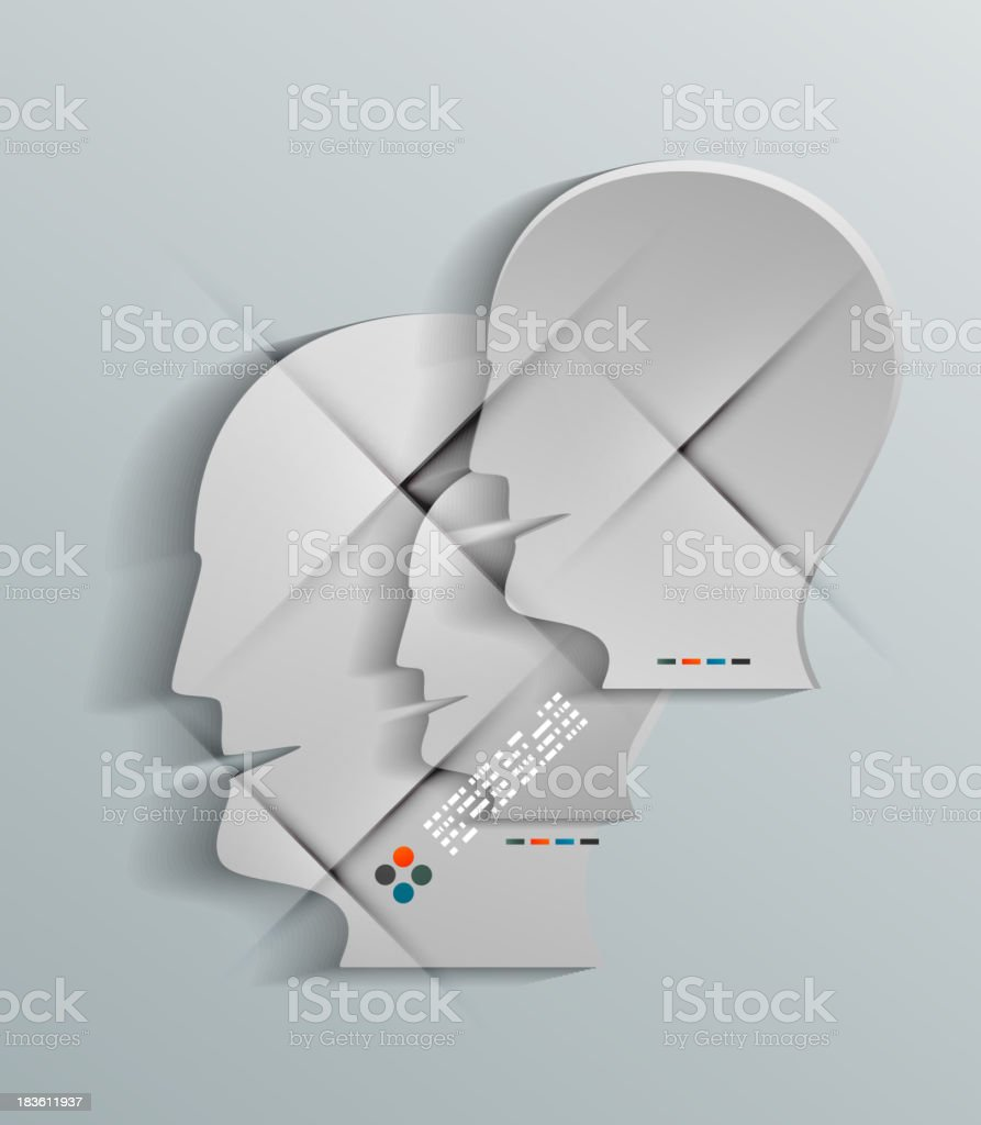 Human head vector 3d paper design royalty-free human head vector 3d paper design stock vector art & more images of abstract