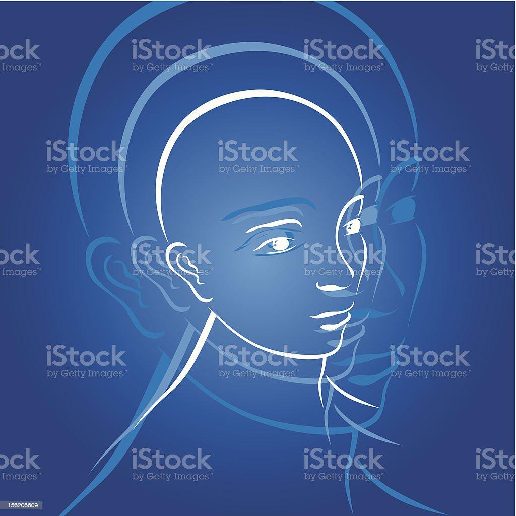 Human head royalty-free stock vector art