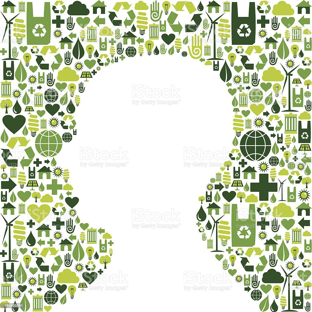 Human head with green icons background royalty-free human head with green icons background stock vector art & more images of abstract
