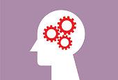 istock Human head with the three gear 1182033963