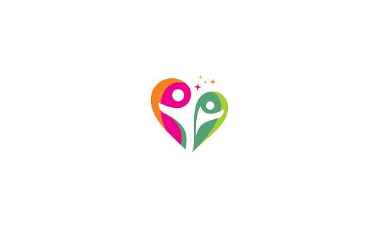 human health love icon vector