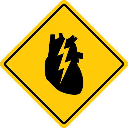 Human Heart Attack Warning Sign