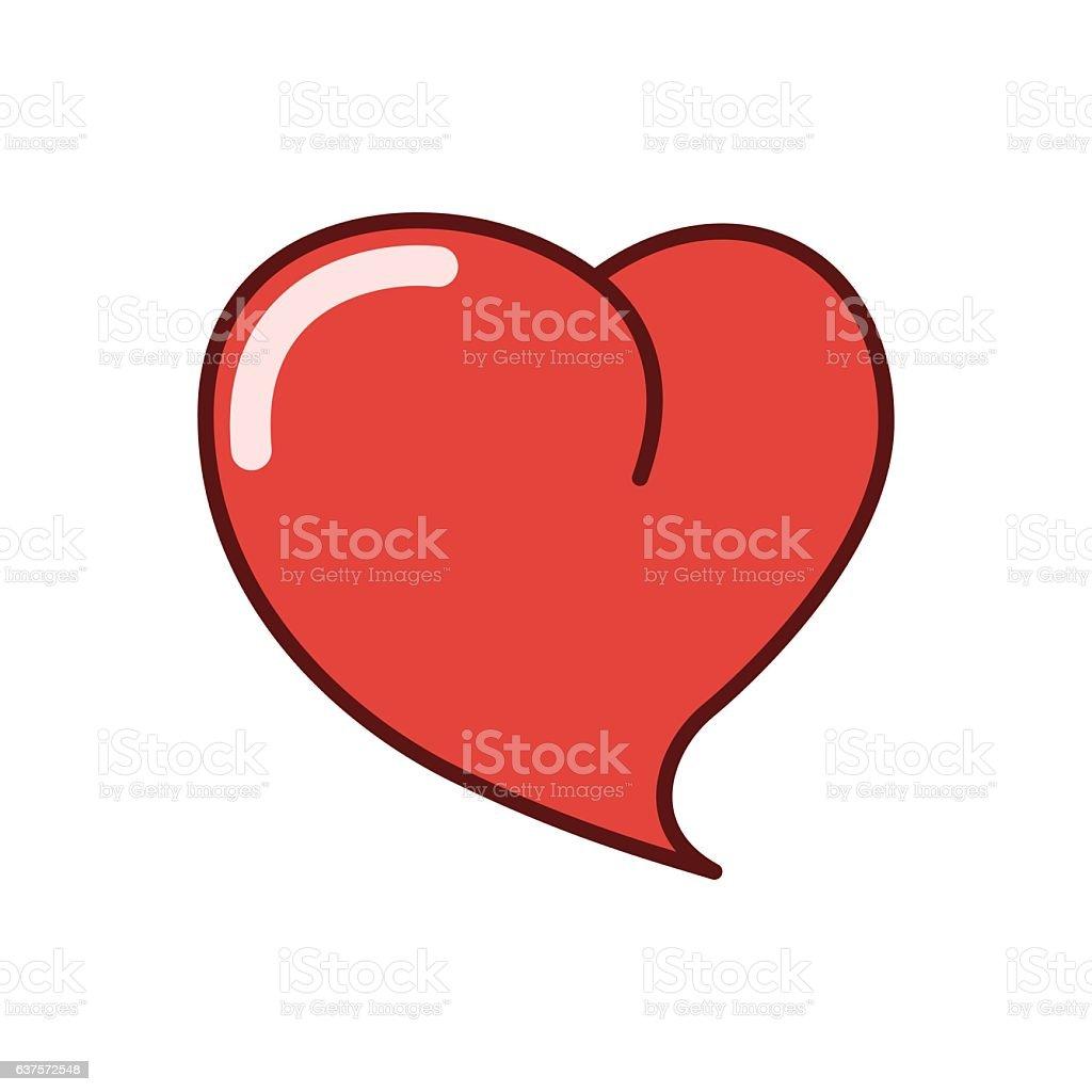 Human Heart Icon Sticker Vector Illustration Stock Vector