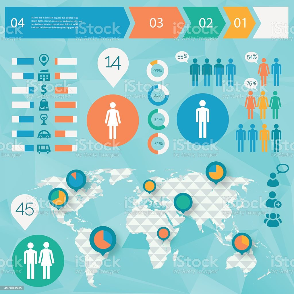 Human issues infographics vector art illustration