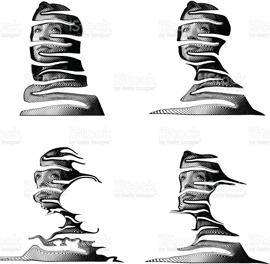Human Landscapes vector art illustration