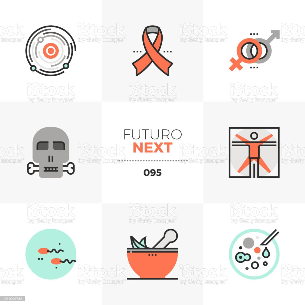 Menschlichen Lebens Futuro Nächsten Symbole Stock Vektor Art und ...