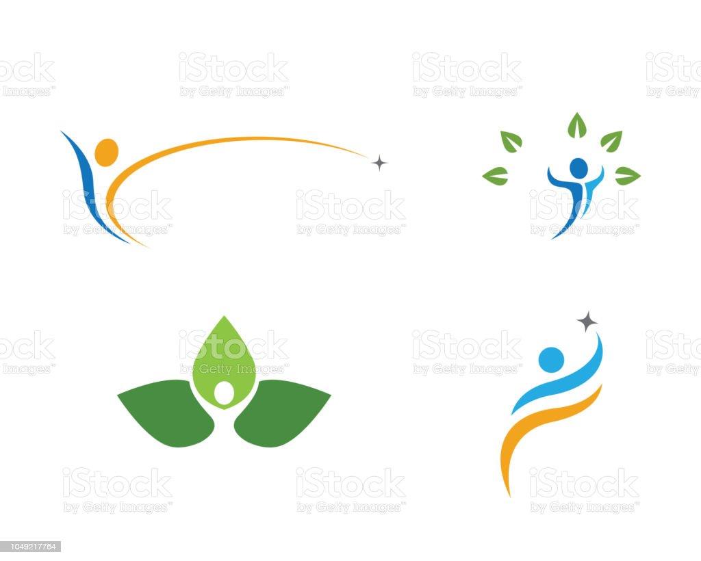 Human logo sign vector art illustration