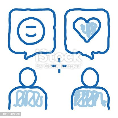 istock Human Lovely Talk doodle icon hand drawn illustration 1316208656