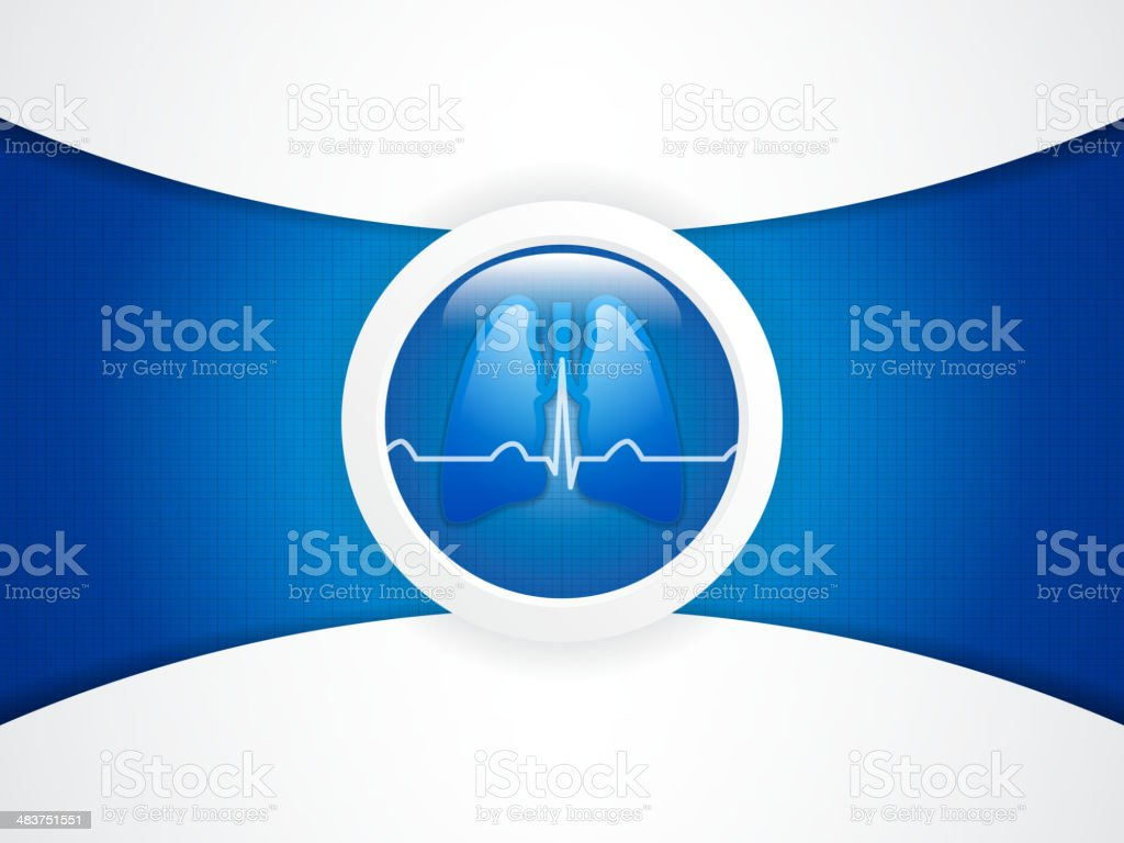 Human lungs royalty-free stock vector art