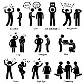 Human Man Character Behaviour Stick Figure Pictogram Icons