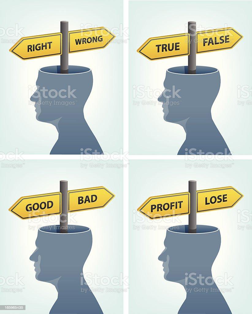 Human mind choice royalty-free stock vector art