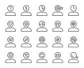 istock Human Mind Thinking - Light Line Icons 1187291627