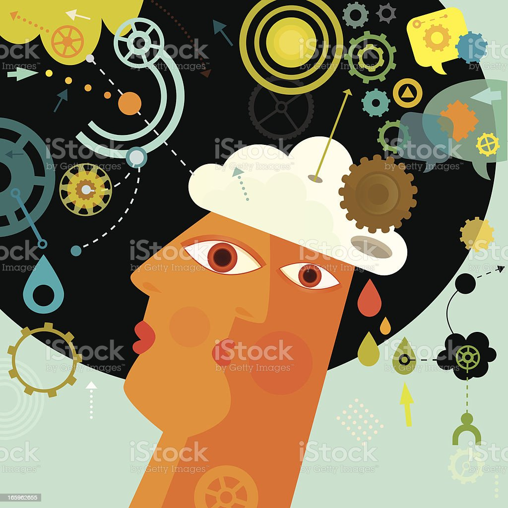 Human Mind royalty-free human mind stock vector art & more images of abstract