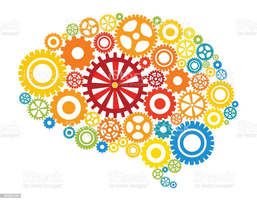 Human mind vector art illustration