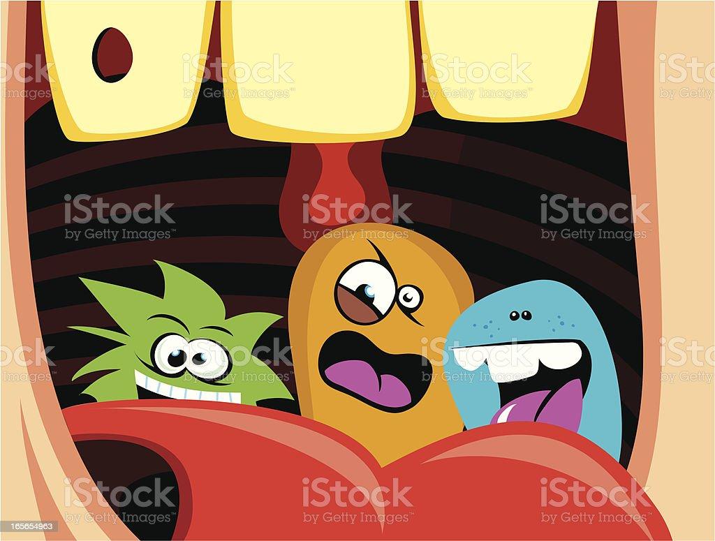 Human Mouth Bacterias royalty-free stock vector art