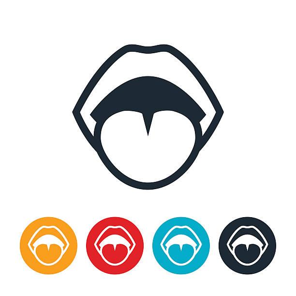 illustrazioni stock, clip art, cartoni animati e icone di tendenza di human mouth icon - lingua umana