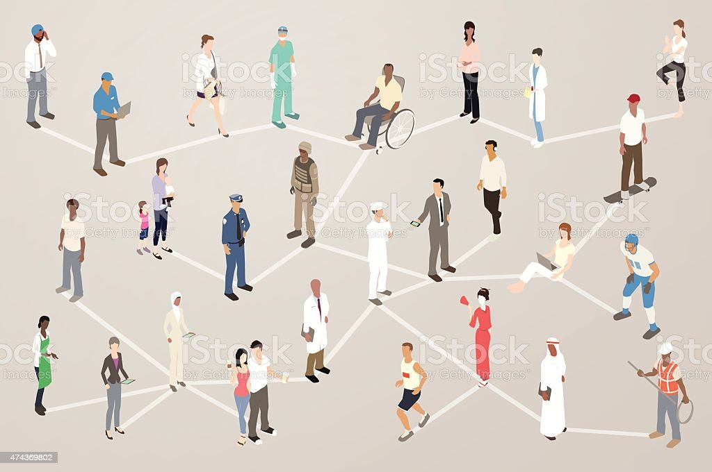 Human Network Illustration royalty-free human network illustration stock vector art & more images of 2015