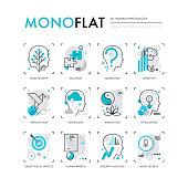 Human Psychology Monoflat Icons