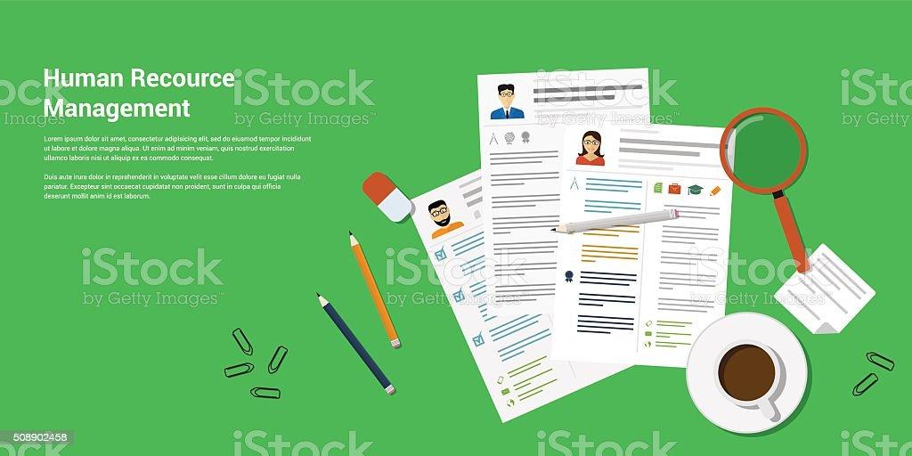 Human Recource Management vector art illustration