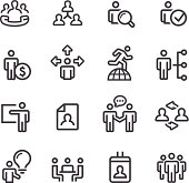 Human Resource and Business Icons - Line Series