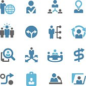 Human Resource and Business Strategy Icons - Conc Series
