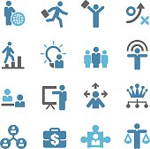Human Resource, Business and Strategy Icons - Conc Series