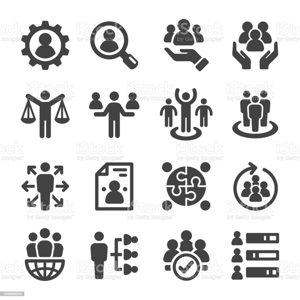 human resource icon - Royalty-free Adulto arte vetorial