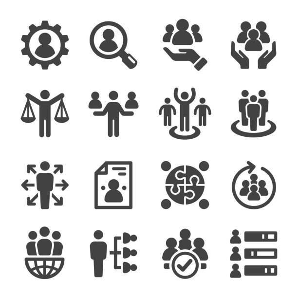 human resource icon human resource icon set person icon stock illustrations