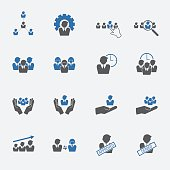 human resource icons set. vector .illustration