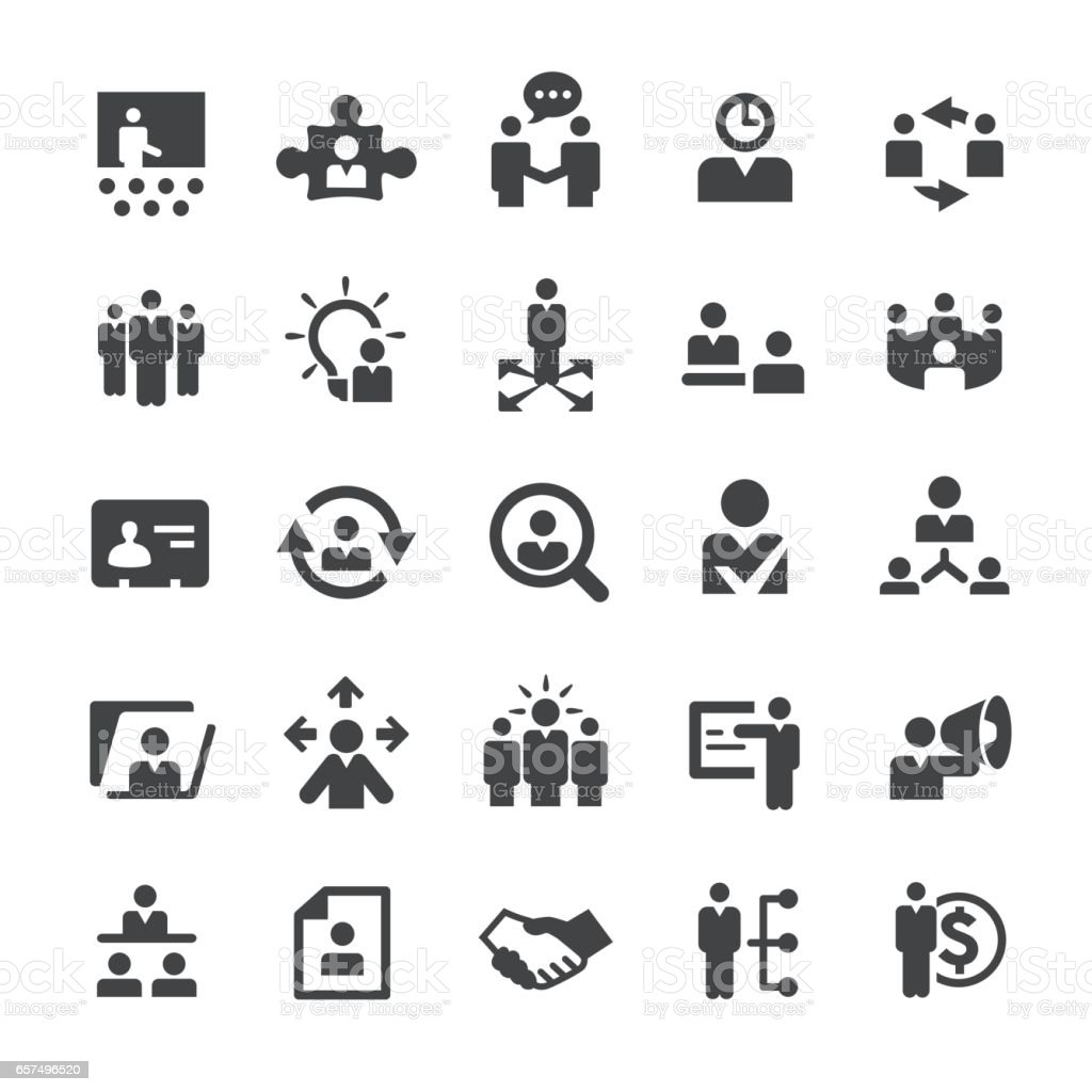 Human Resource Icons - Smart Series vector art illustration