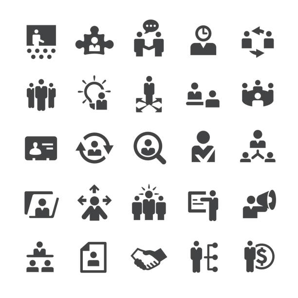 Human Resource Icons - Smart Series Human Resource Icons recruiter stock illustrations