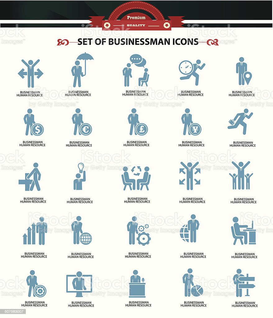 Human resource icons,Blue version,vector vector art illustration