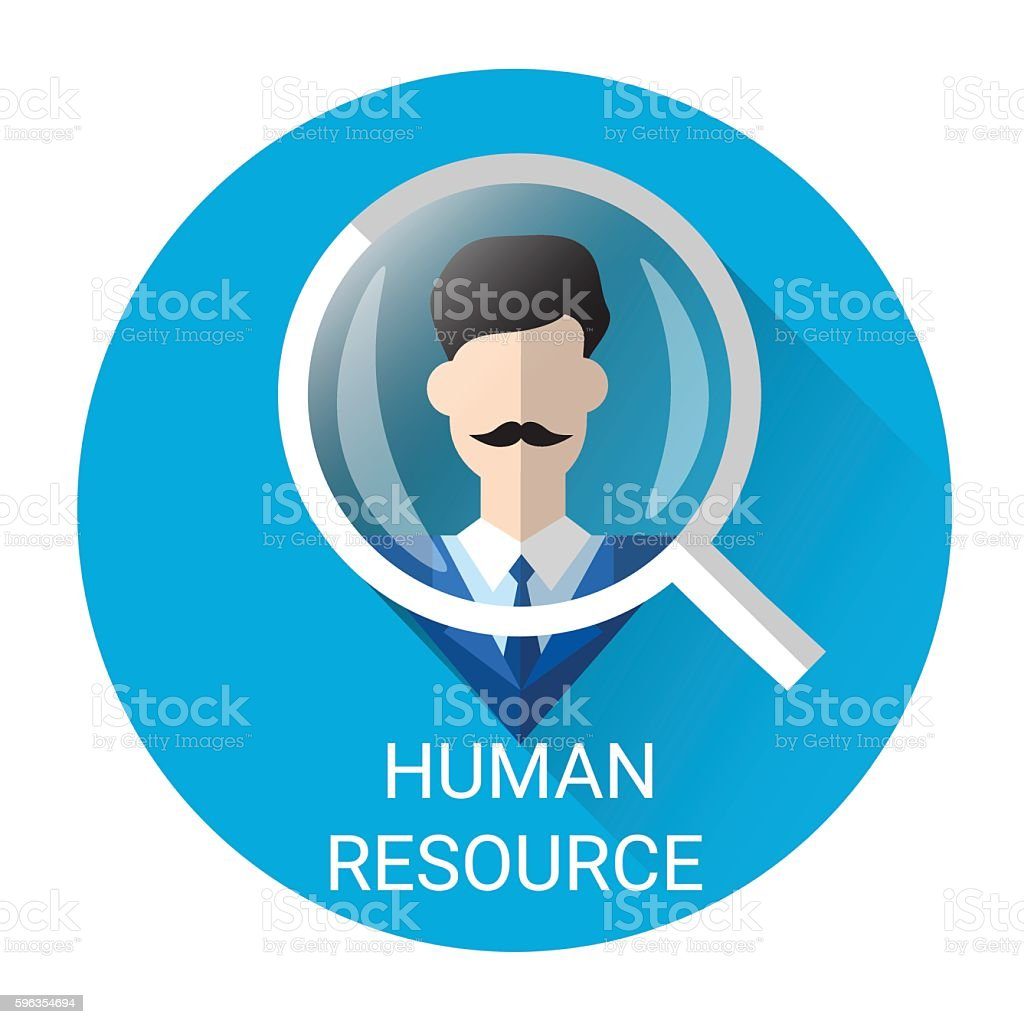 Human Resource Magnifying Glass Picking Business Person Candidate Icon royalty-free human resource magnifying glass picking business person candidate icon stock vector art & more images of adult