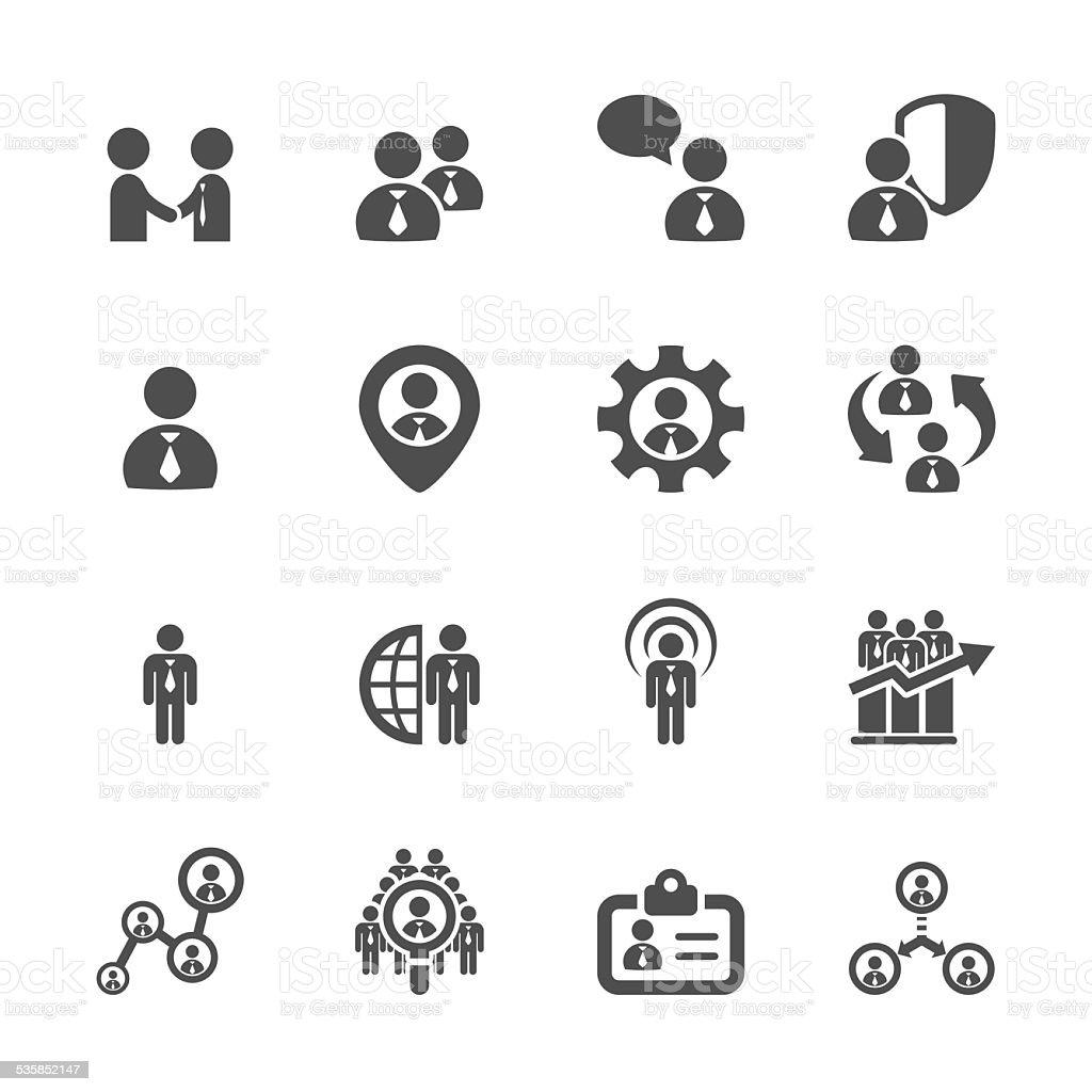 human resource management icon set 5, vector eps10 vector art illustration