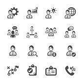 human resource management icon set, vector eps10..