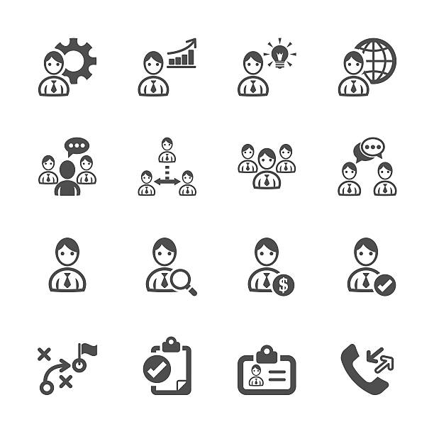 human resource management icon set, vector eps10 human resource management icon set, vector eps10.. recruiter stock illustrations
