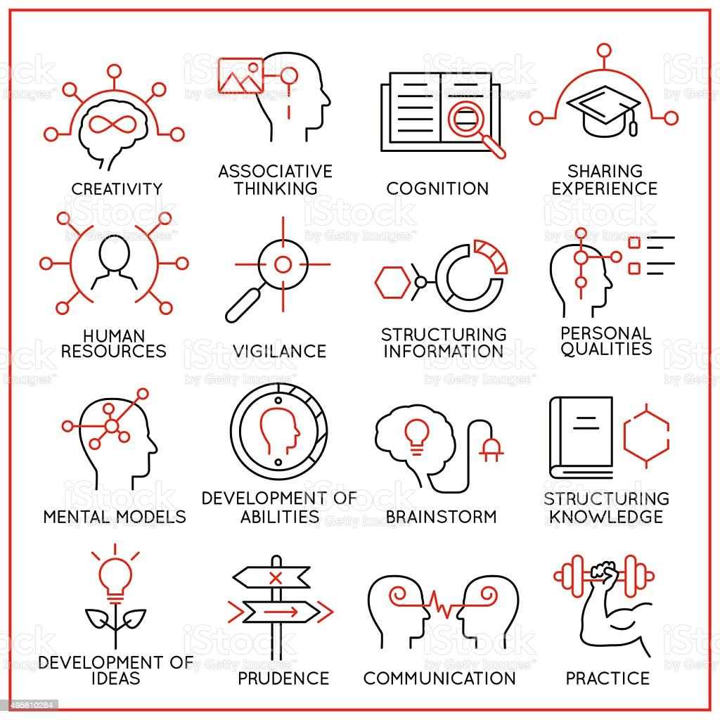 Human resource management icons - part 1 vector art illustration