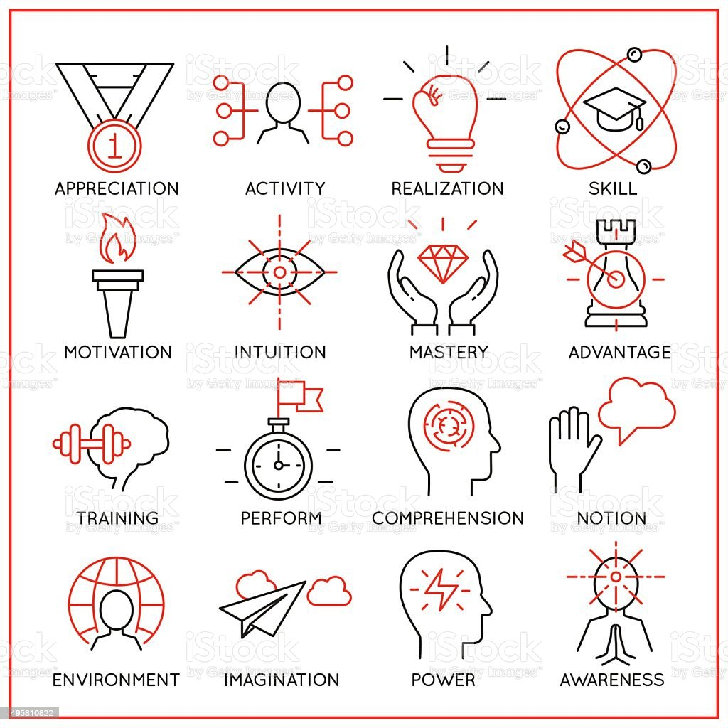 Human resource management icons - part 2 vector art illustration